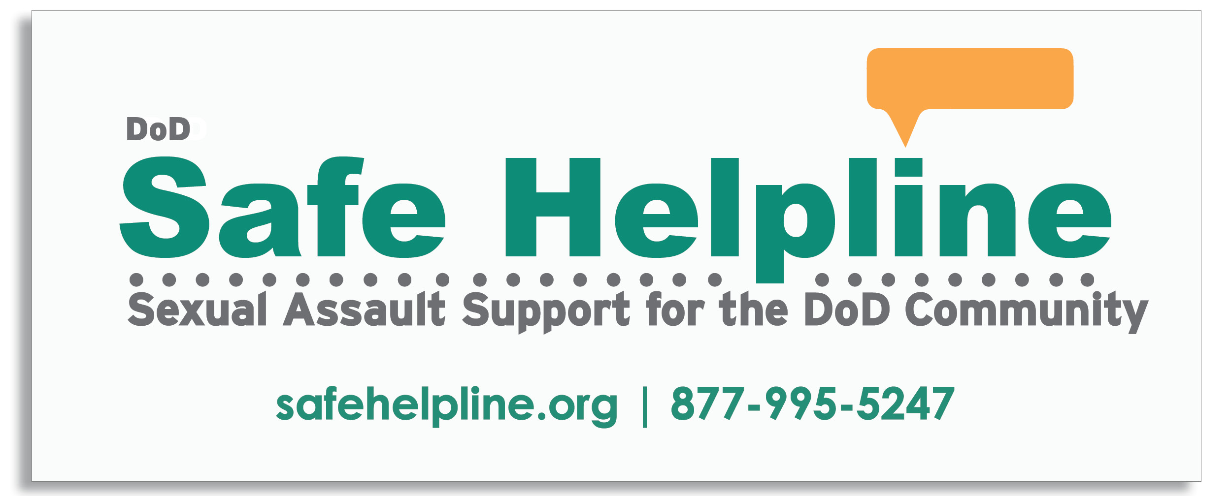 A graphic representing the Safe Helpline phone number, pease call 877-995-5247.
