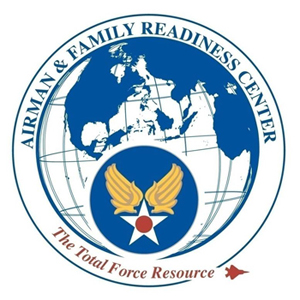 An embem representing the Airman and Family Readiness Center.
