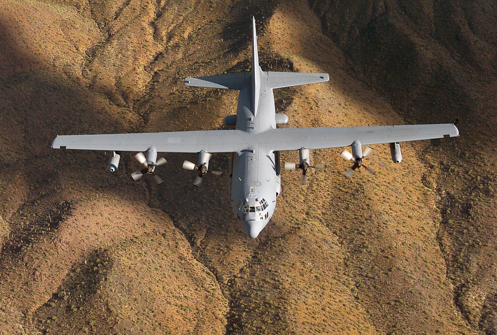 An image of an EC-130H Compass Call aircraft stationed at Davis-Monthan AFB.